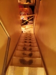 Navigating the stairs from bathroom at La Bourse ou La Vie was challenging.
