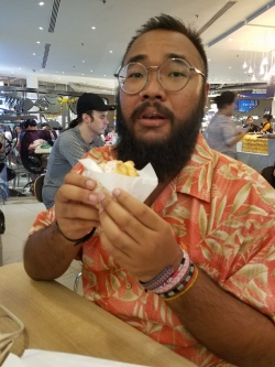 Ak's first Beard Papa creampuff