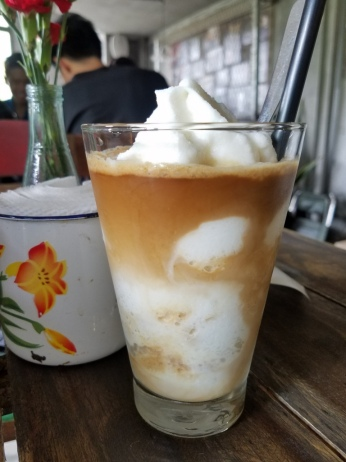 Frozen coconut coffee