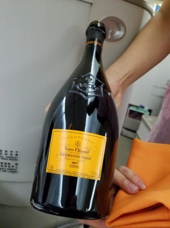 On-board champagne!