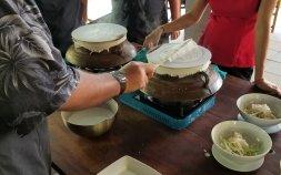 Making rice noodles