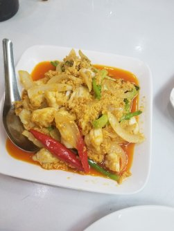 Crab with curry
