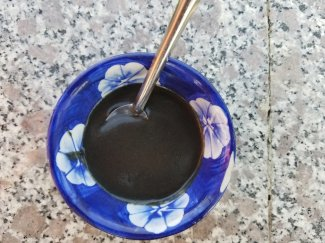 Black sesame pudding