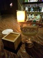 Sake and larb cocktails